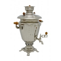 Charcoal-burning samovar 2,5 liters «Practical» (nickel)