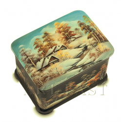 "Russian Painted Box Fedoskino ""Winter"" Khomin"