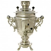 """Samovar electric 3 liters Nickel-plated """"Cone"""" with a thermostat, art. 110332"""