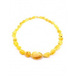 "Beads from natural amber ""Honey candies"""
