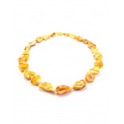 "Beads from natural amber ""Dark honey lollipops"""