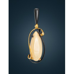 "Elegant pendant ""Era"" of silver-gilt and mammoth tusk"