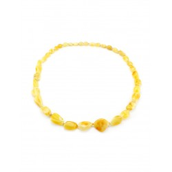 "Beads from natural amber ""honey Olive large"""