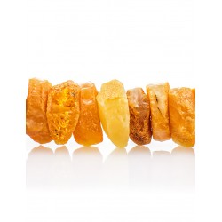 "Beads from natural Baltic amber unpolished ""Washers honey landscape"""