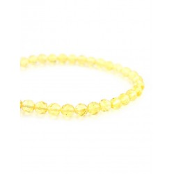 "Bracelet made of solid natural amber hue lemon ""Caramel diamond face"""