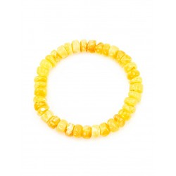 """Bracelet from natural amber with a curative effect """"Washers honey glossy"""""""