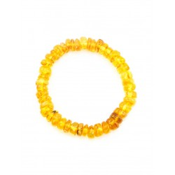 """Bracelet from natural amber with a curative effect """"Washers golden lemon transparent"""""""