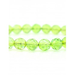 "Bracelet made from freshwater Colombian amber ""Green Ball. Diamond Line """