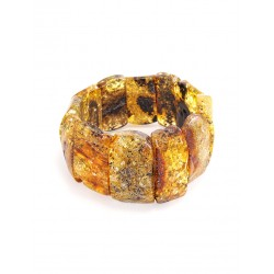 """Bracelet made of natural Baltic amber green shade """"Pompeii"""""""