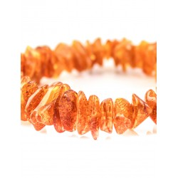 """Bracelet natural amber bright cognac color """"Therapy"""""""