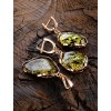 """Beautiful earrings from amber to green plated Silver """"Laguna"""""""