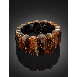 "Bracelet from a single sparkling amber ""Arcade"""