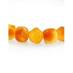 """Bracelet from amber solid with a curative effect """"Kusanku medicinal honey"""""""