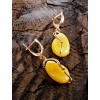 "Beautiful earrings made of gilded silver and natural amber honey ""Rialto"""