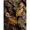 "Amazing earrings with natural Baltic amber in silver ""filigree. winglet """