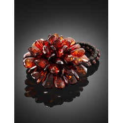 "Multifunction decoration ""Chrysanthemum Diamond"" from natural solid amber"