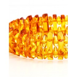 "Bright golden bracelet made of natural amber ""Mandarin diamond"""