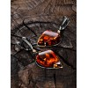 """Beautiful earrings """"Rialto"""" of gilded silver with natural cognac amber"""