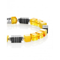 "Bracelet magnetic locks made of natural Baltic amber ""Sugar-Boy"""