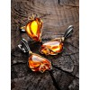 """Beautiful gold earrings with amber tea-colored """"Rialto"""""""