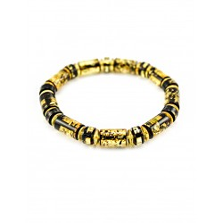 "Amber bracelet ""Washers, diamond face"" husk"