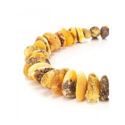 Bracelet with the therapeutic effect of amber with variegated texture