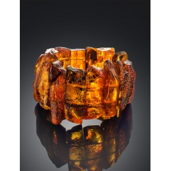 """Bracelet from natural amber with a natural crust """"Pompeii"""""""