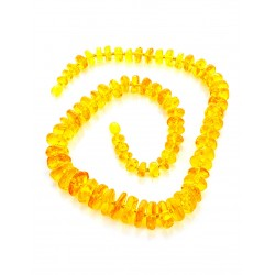 "Beads from natural amber solid golden ""Washers solar"""