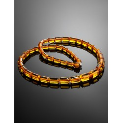 "Beads from natural amber cognac ""kegs"""