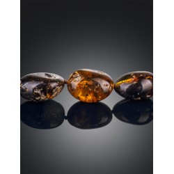 "Beads from natural amber ""Olive black curative"""