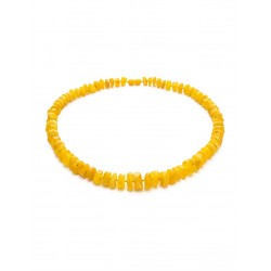 "Beads from natural Baltic amber ""Washers glossy honey"""