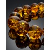 "Beads from natural amber golden ""ball of crumpled"""