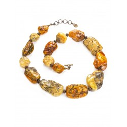"Beads in the ethnic style of the natural amber ""Indonesia"""