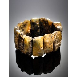 """Bracelet """"Pompeii"""" natural amber with a beautiful natural texture"""