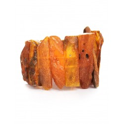 """Bracelet made of natural Baltic amber with a natural crust """"Pompeii"""""""