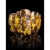 "Unique bracelet made of natural Baltic amber green shade ""Pompeii"""