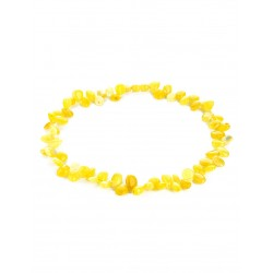 "Neat baby beads ""Seabuckthorn"" of translucent amber honey for children"
