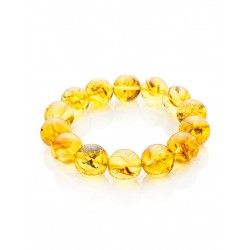 """Bracelet molded amber with inclusions """"Jupiter"""""""