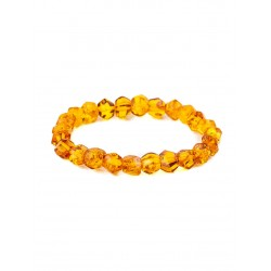 "Bracelet beautiful transparent amber-colored brandy ""Facets"""