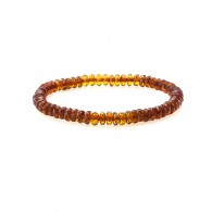 "Bracelet made of natural Baltic amber ""Caramel diamond wintergreen"""