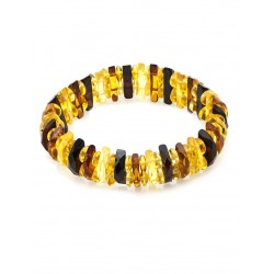 "Bracelet made of natural Baltic amber ""Mandarin diamond motley"""