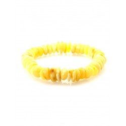 """Bracelet made of natural Baltic amber, honey-colored """"Puck glossy sun"""""""