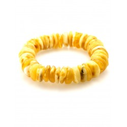 """Bracelet made of natural Baltic amber, honey-colored """"Washer average gloss"""""""