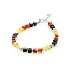 "Bracelet made of natural Baltic amber of different colors ""Sugar-Boy"""