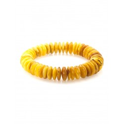 """Bracelet made of natural Baltic amber with aging effect """"Caramel Honey"""""""