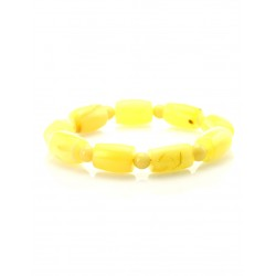 """Bracelet made of natural Baltic amber """"Ball and barrel of honey"""""""