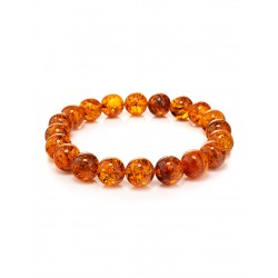 """Bracelet made of natural Baltic amber """"Brandy Bowl with sparks"""""""
