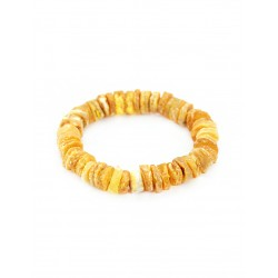 """Bracelet made of natural Baltic amber """"Washers treatment"""""""