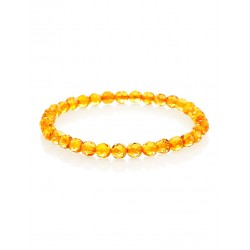 "Bracelet made of natural Baltic amber golden cognac ""diamond Caramel"""