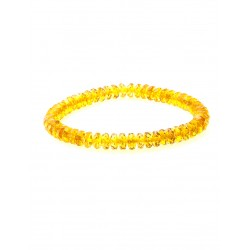 "Bracelet made of natural Baltic amber golden ""Caramel Diamond"""